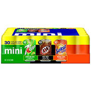 7UP, A&W and Sunkist Mini Variety Pack, 30 ct./7.5 oz. cans