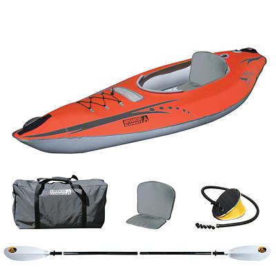 FireFly Inflatable Kayak Kit with Paddle, Foot Pump and Duffel Bag