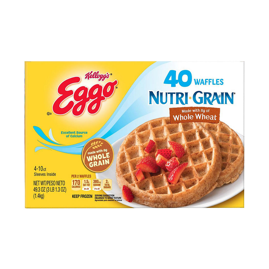 Kellogg's Eggo Nutri-Grain Waffles, 40