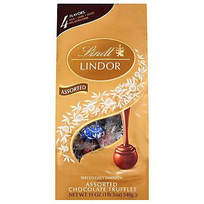 Lindt Lindor Milk Chocolate Assorted Truffles, 19 oz.