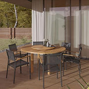 Amazonia Adrien 7-Pc. Lazy Susan Patio Dining Set