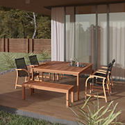 Amazonia Elliot 7-Pc. Square Wood Patio Seating Set