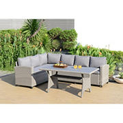 Amazonia Pierre 3-Pc. Wicker Patio Seating Set with Cushions - Gray