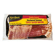 Korbert Thick Sliced Bacon, 3 lbs.