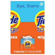 Tide To Go Instant Stain Remover Wipes, 40 ct.