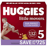 Huggies Little Movers Baby Diapers, Size 5, 132 ct.