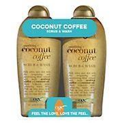 OGX Coffee Coconut Scrub Wash, 2 ct.