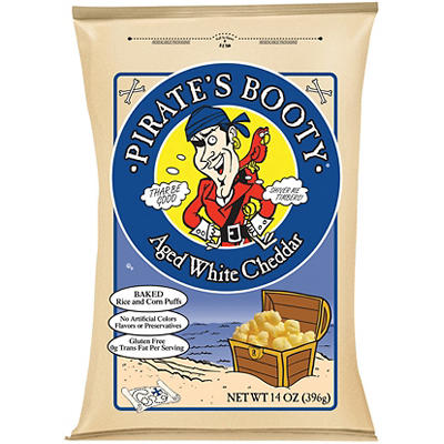 Pirate's Booty Aged White Cheddar, 14 oz.