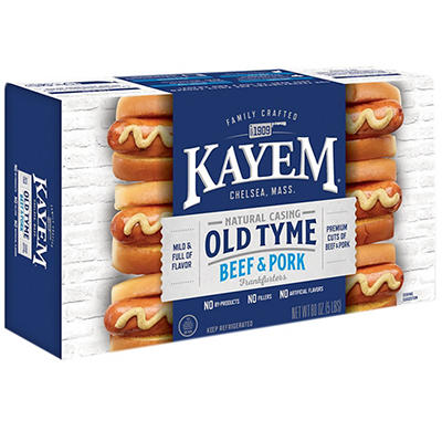 Kayem Old Tyme Natural Casing Beef & Pork Sausage, 5 lbs.