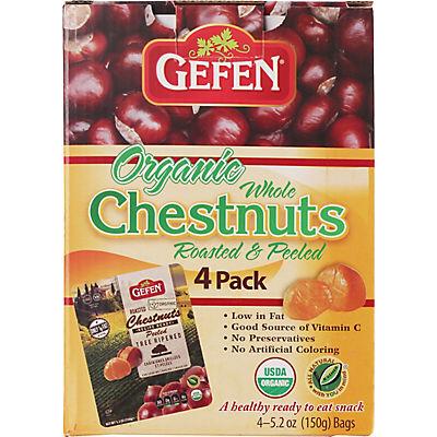 Gefen Organic Whole Chestnuts, 4 pk./5.2 oz.