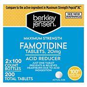 Berkley Jensen Maximum Strength Famotidine Tablets, 200 ct.