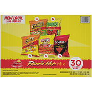 Frito-Lay Flamin Hot Spicy Snacks Variety Pack, 30 ct.