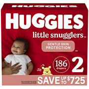 Huggies Little Snugglers Baby Diapers, Size 2, 186 ct.