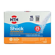 HTH Super Shock with 15 Test Strips, 15 pk./1 lbs.