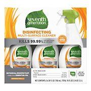 Seventh Generation Lemongrass Citrus Disinfecting Multi-Surface Cleaner, 3 ct.
