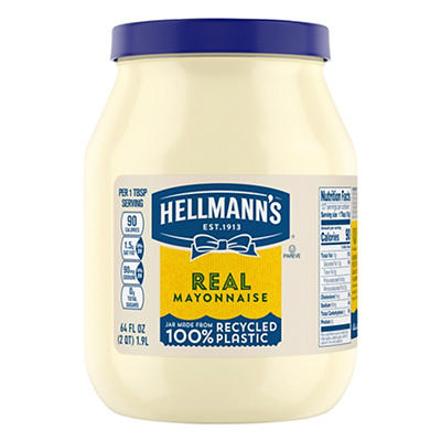 Hellmann's Real Mayonnaise, 64 oz.