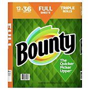 Bounty Full Sheet Triple Roll Paper Towels, White, 12 ct.
