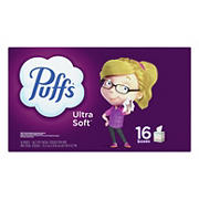 Puffs Ultra Soft and Strong Facial Tissue, 16 ct.