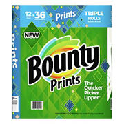 Bounty Select-A-Size Triple Rolls Paper Towels, Print, 12 ct.