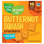 Real Food From The Ground Up Butternut Squash Sea Salt Crackers, 16 oz.