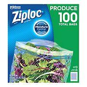 Ziploc Produce Freshness Bags, 100 ct.