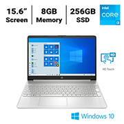 HP 15-dy2074nr Laptop, 11th Generation Intel Core i3-1115G4 Processor, 8GB Memory, 256GB SSD