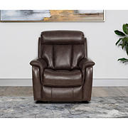 Abbyson Living Riley Top Grain Leather Recliner with White Glove Delivery - Brown