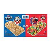 Kellogg's Cereal Bars Variety Pack, 36 ct.