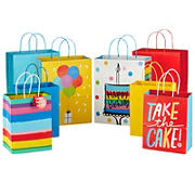 """Hallmark 9"""" Medium and 13"""" Large Gift Bags Assortment (8-Pack; 4 Large, 4 Medium) for Birthdays, Baby Showers, Any Occasion"""