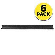 Rubberific 4' Brickface Rubber Landscape Edging Section, 6 pk. - Black