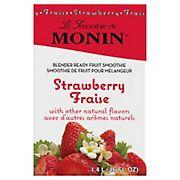 Monin Strawberry Fruit Smoothie Mix, 46 oz.