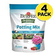Burpee Natural & Organic Potting Mix, 4 pk./8 qt.