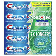 Crest Complete Plus Scope Outlast Ultra Toothpaste, 5 ct.