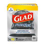 Glad ForceFlex Drawstring Large Trash Bags, 33 Gallon, 90 ct.