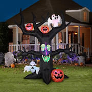 Gemmy Animated Airblown Inflatable Halloween Tree with Projection Kaleidoscope Lights