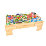 Jupiter Workshops Deluxe 100-Pc. Wooden Train Table Playset