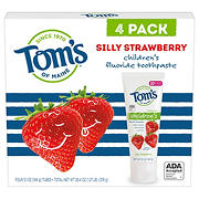 Tom's of Maine Anticavity Fluoride Children's Toothpaste - Silly Strawberry, 4 pk.