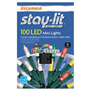 Sylvania Staylit 100-ct. 6-Function Synchronized LED Twinkling/Color Changing M7 Light Set