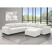 Abbyson Living Harley Fabric Sectional -  White
