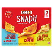 Cheez-It Snap'd Cheesy Baked Snacks Variety Pack, 3 ct.