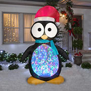 Gemmy Airblown Inflatable Penguin with Projection Kaleidoscope Lights