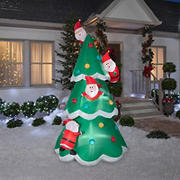 Gemmy Airblown Inflatable Christmas Tree of Many Santas