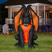 Gemmy Airblown Inflatable Gargoyle with Projection Fire & Ice Lights