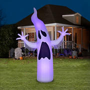 Gemmy Lightshow Airblown 12' ShortCircuit-Ghoul Ghost-Giant with Black Light