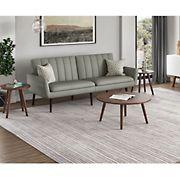 Handy Living Melanie Convert-a-Couch - Dove Gray Linen