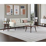 Handy Living Armando Convert-a-Couch - Heather Gray Tweed