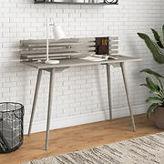 Handy Living Cahill Solid Wood Study Desk - White Wash Finish
