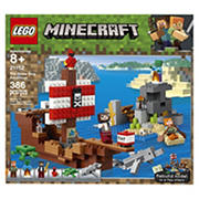 LEGO Building Kit - Minecraft The Pirate Ship Adventure 21152, 386 Pc.