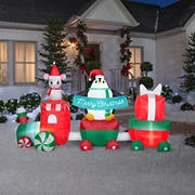 Gemmy Airblown Inflatable Christmas Train