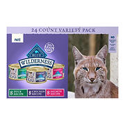 BLUE Wilderness Wet Cat Variety Pack, 24 ct., Chicken, Salmon, Duck